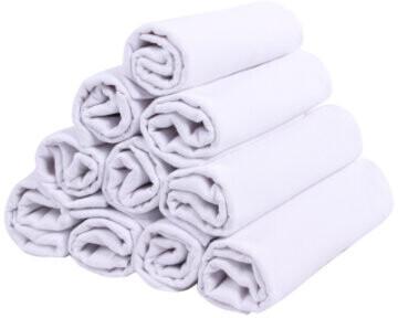 Lulando Stoffwindeln 10 Stück weiß