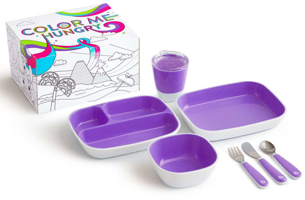 Munchkin Kinder-Geschirrset Color Me Hungry (7-tlg.)
