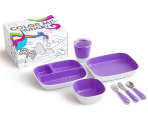 Munchkin Kinder-Geschirrset Color Me Hungry (7-tlg.) lila