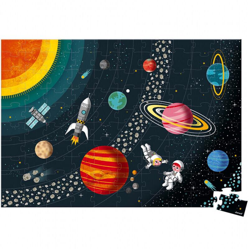Janod Edukativ-Puzzle Sonnensystem (100 Teile)