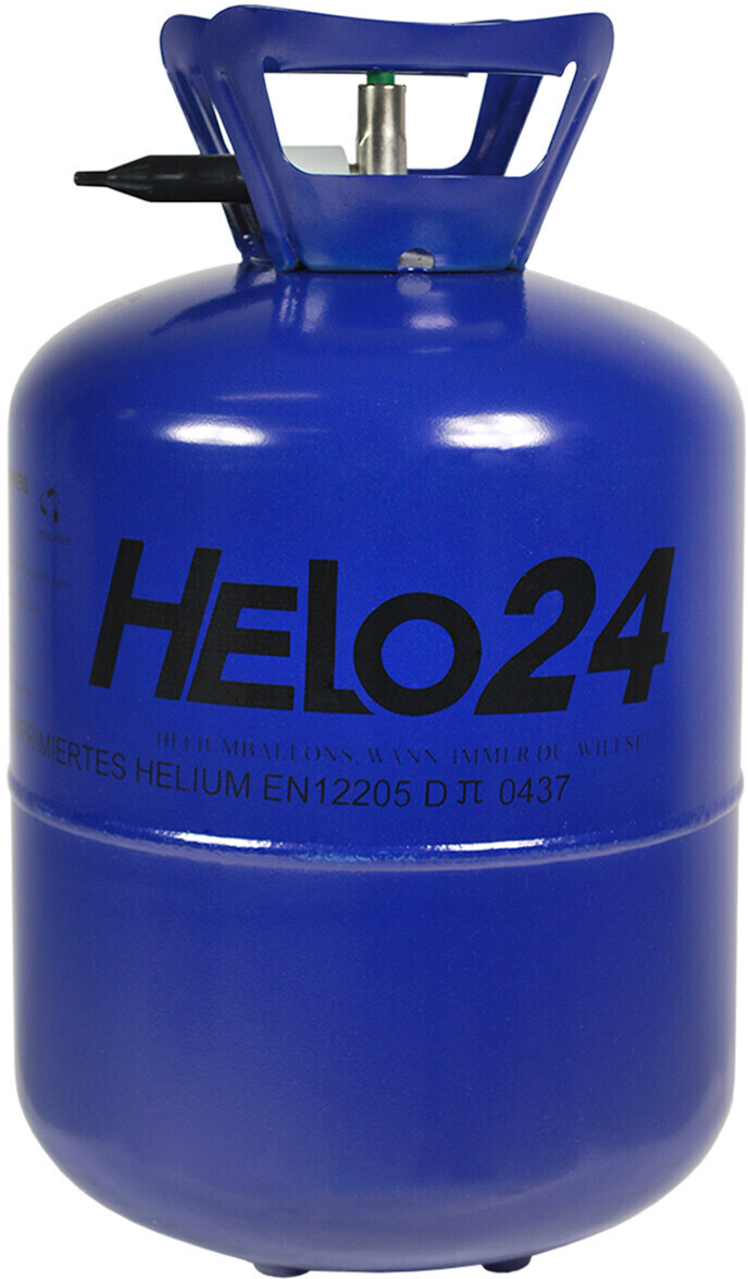 Helo Helium Ballongas Heliumflasche Ballon Party für ca. 30 Luftballons ca. 0,25 m³