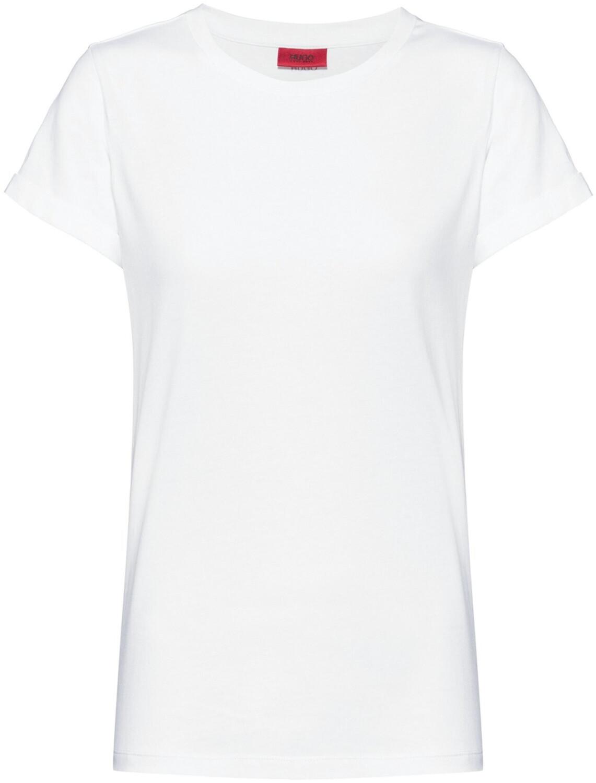 Hugo T-Shirt aus Baumwoll-Jersey mit spiegelverkehrtem Logo-Print (50417212) weiß