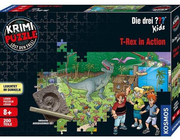 Kosmos Krimi-Puzzle: Die drei ??? Kids - T-Rex in Action