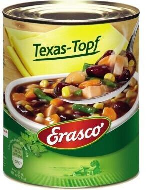 Erasco Texas-Topf (6x800ml)