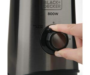 plastique 1,5 litres Black+Decker BXJB500E Blender avec carafe blanc