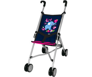 myToys-COLLECTION Puppen-Buggy blau/pink