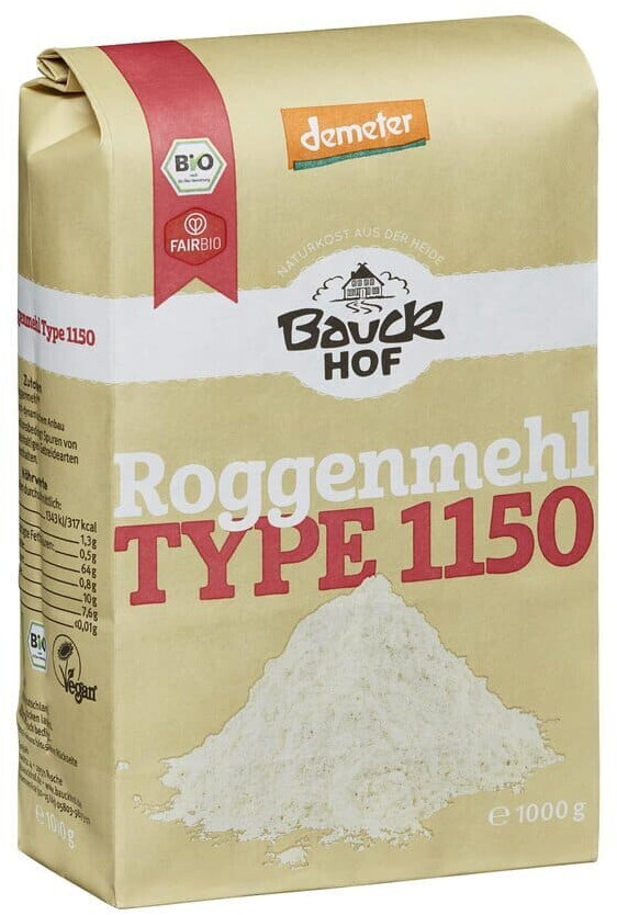 Bauckhof Lichtkorn-Roggenmehl Type 1150 Demeter (1kg)