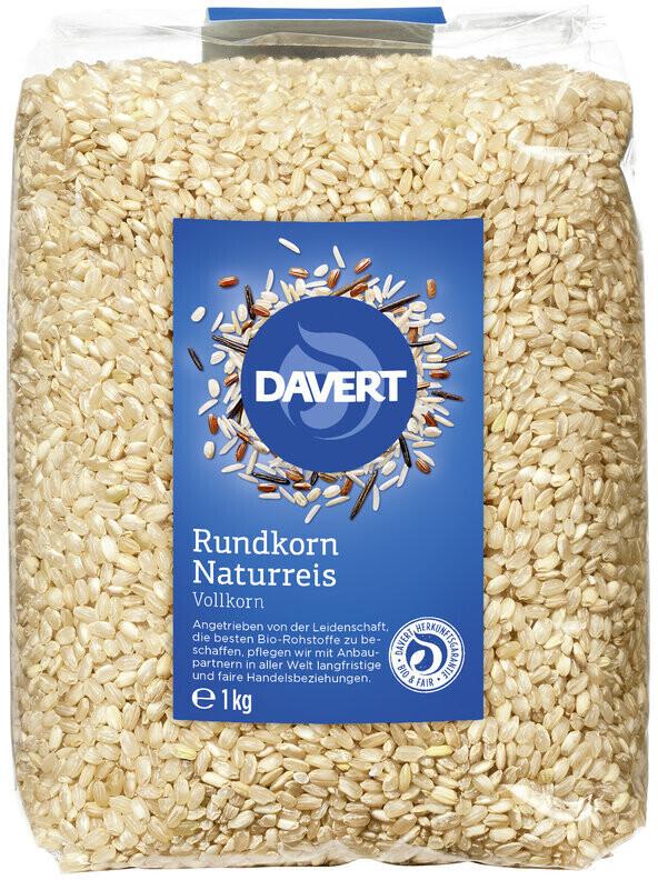 Davert Rundkorn Naturreis (1kg)