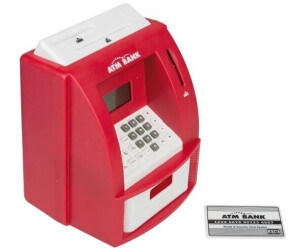 Idena Spardose Geldautomat Digital mit Sound rot
