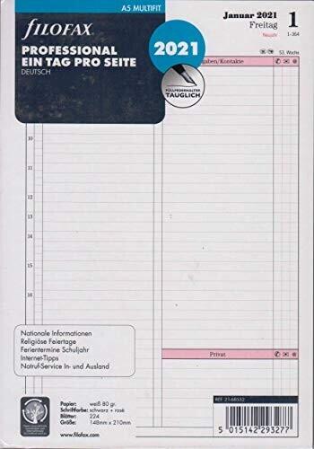 Filofax Einlage Professional Deutsch 2021 A5 (21-68552