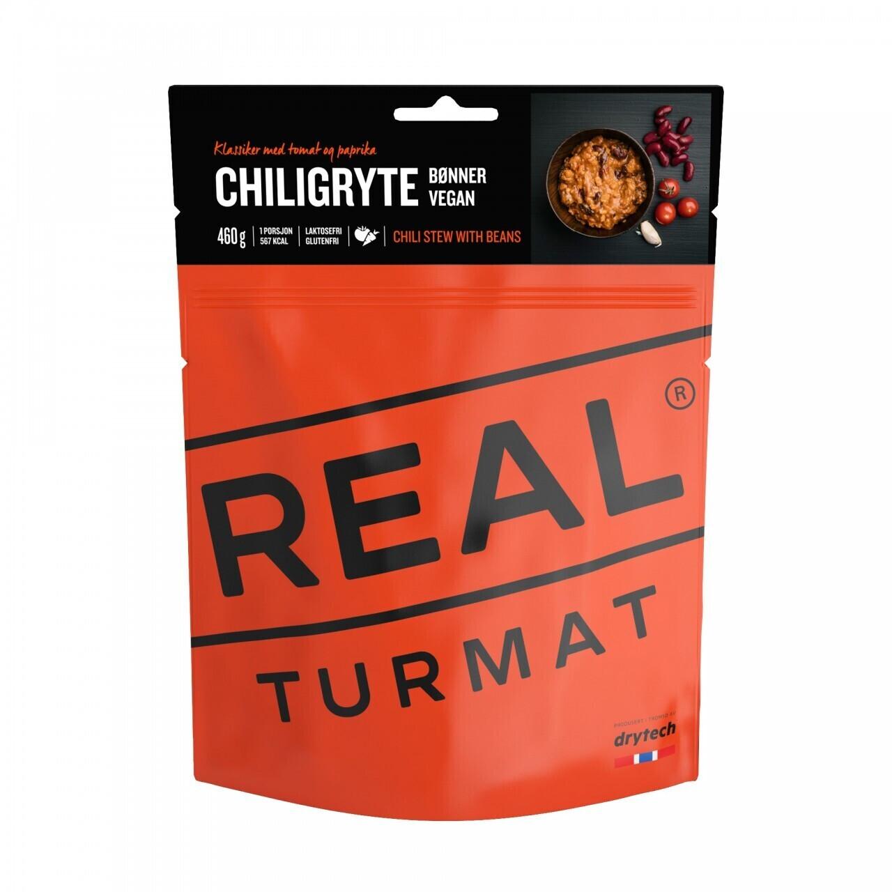 Real Turmat Vegan Chili Stew With Beans - Chili-Eintopf (132g)