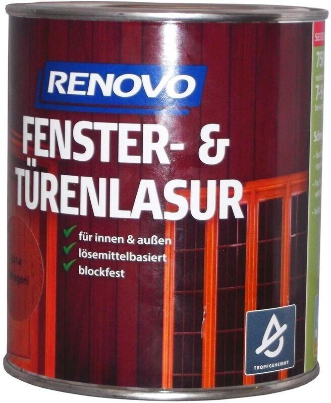 Renovo Fenster&Türenlasur Nr.8412 teak 0,75 l