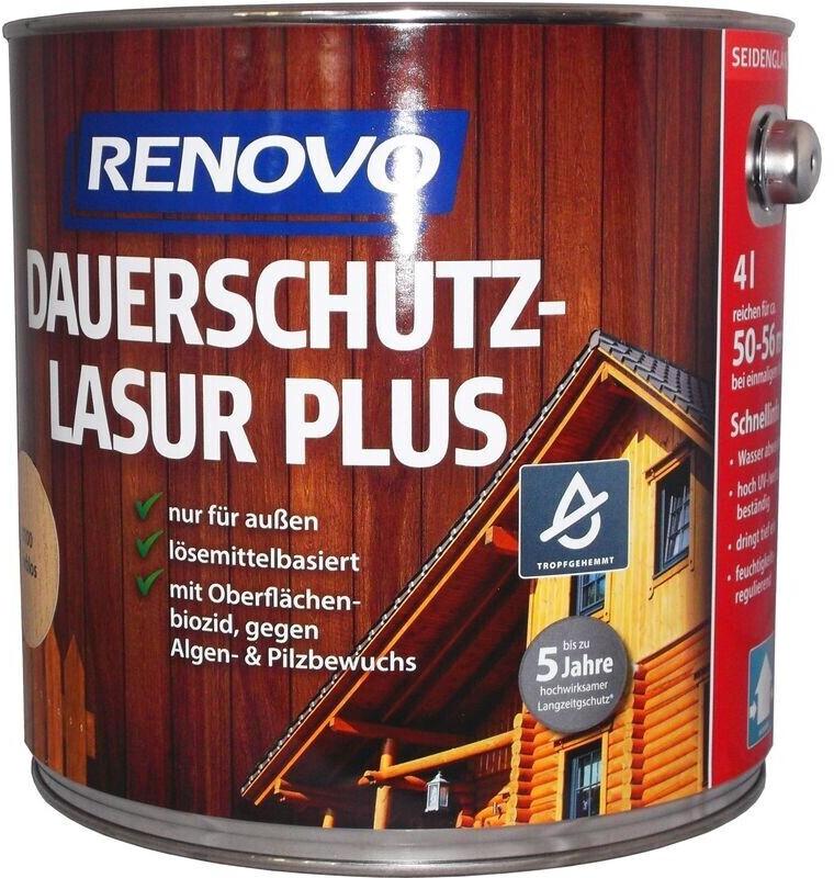 Renovo Dauerschutzlasur PLUS Nr.8412 teak 4 l