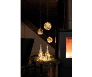 """15 cm LED mit Timer Räder Design Lichtkugel /""""Frohes Fest/"""" weiß//gold dia"""