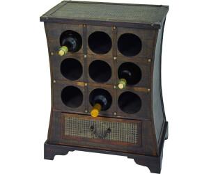 Kolonial Holz Weinregal Flaschenregal Weinfass Regal f 14 Flaschen Koffer Truhe