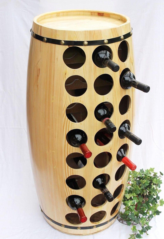 DanDiBo Weinregal Weinfass Für 48 Fl. Aus Holz H-99 Cm Nr.1502 Flaschenständer Regal Fass Bar