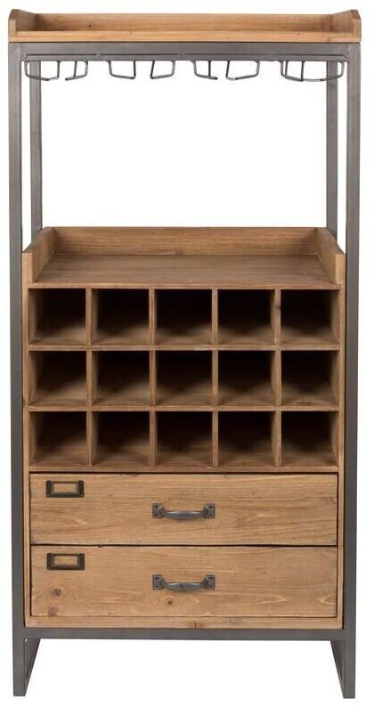 MSZ Design Weinschrank Weinregal Edgar Im Vintage Style