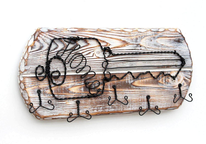 DanDiBo Schlüsselbrett Holz Handmade (1103)