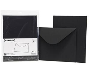 Buntbox DIN C4 ohne Fenster schwarz 2 Stück