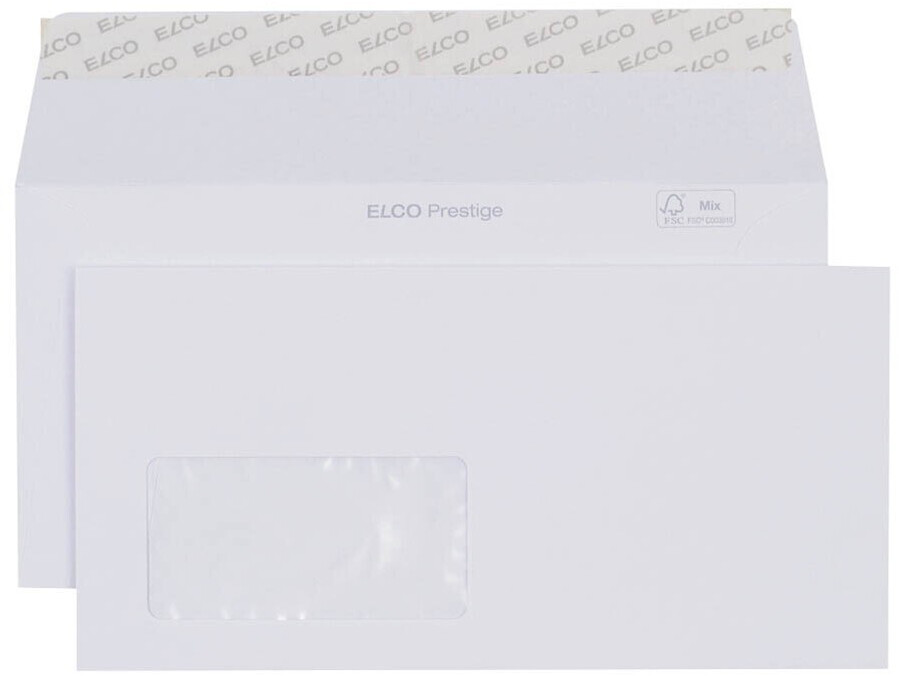 Elco Prestige DIN lang+ mit Fenster 250 Stück (42779)
