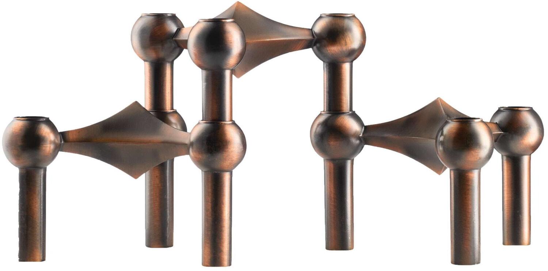 Stoff Nagel Kerzenhalter-Set (3 Stk.) kupfer