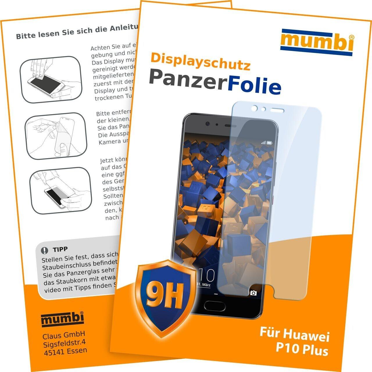 Mumbi Hart Glas Folie kompatibel mit Huawei P10 Plus  (1x)