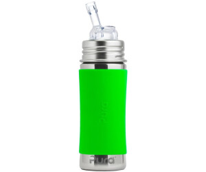 Pura Kiki Strohhalmflasche (325ml) Grün