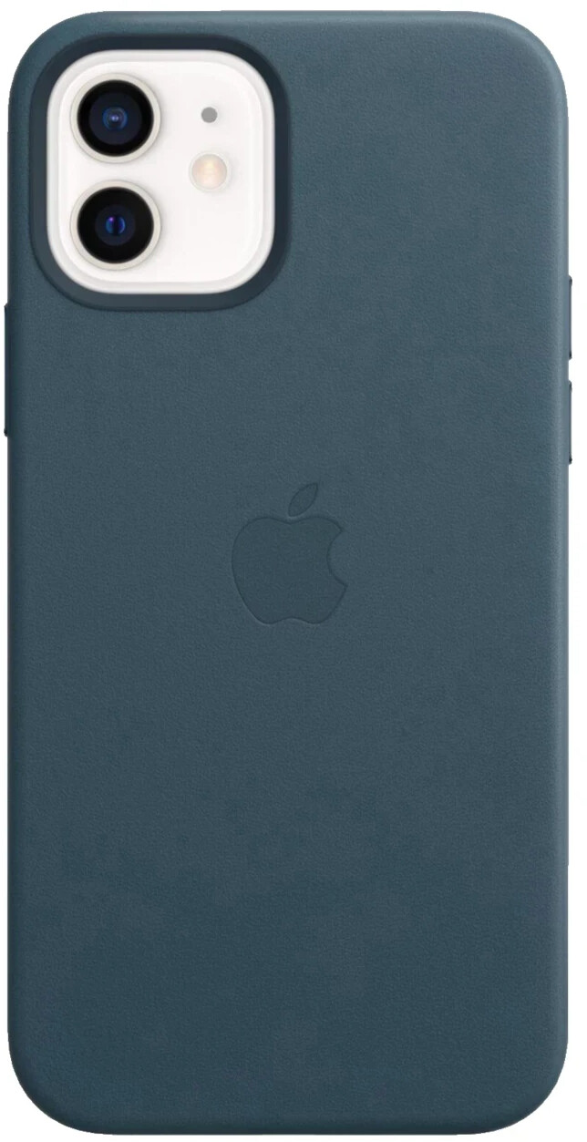 Image of Apple Leather Case with MagSafe (iPhone 12/iPhone 12 Pro) Baltic Blue