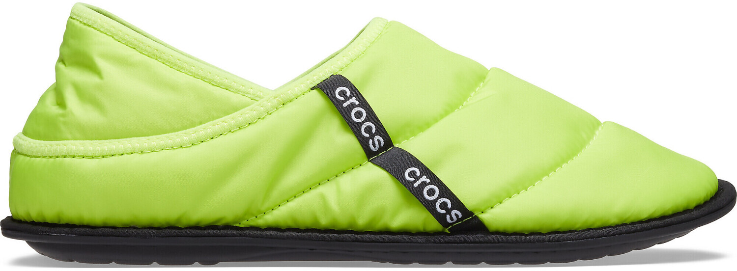 Crocs Neo Puff Lined Slipper lime punch