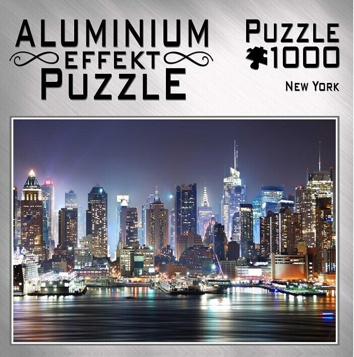 M.I.C. Aluminium Effekt Puzzle - New York (1000 Teile)
