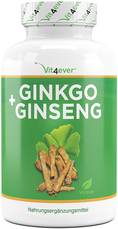 Vit4ever Ginkgo + Ginseng Tabletten (365 Stk.)