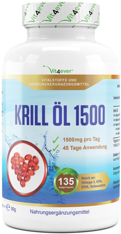 Vit4ever Krill Öl 1500 Softgel-Kapseln (135 Stk.)