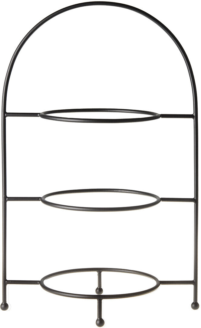 Laura Ashley 3-stöckige Etagere schwarz (46 cm)