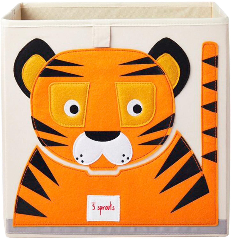 3 Sprouts Aufbewahrungsbox 33x33x33cm Tiger