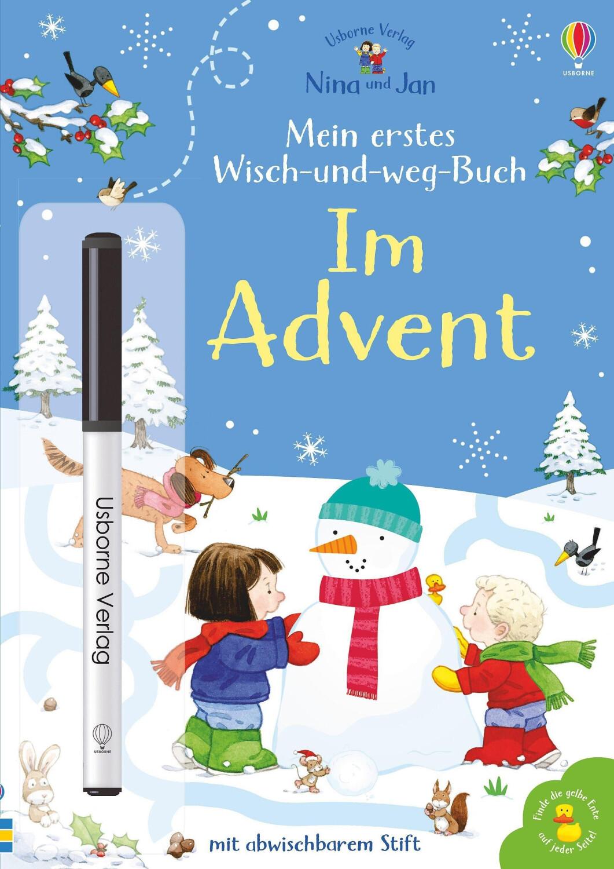 Nina und Jan - Mein erstes Wisch-und-weg-Buch: Im Advent: mit abwischbarem Stift (Sam Taplin)
