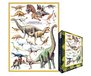 Image of Eurographics Puzzles Dinosaurs Jurassic (1000 Pieces)