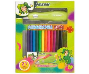 Jolly Airbrushset für Kinder 12 Stifte & Schablonen