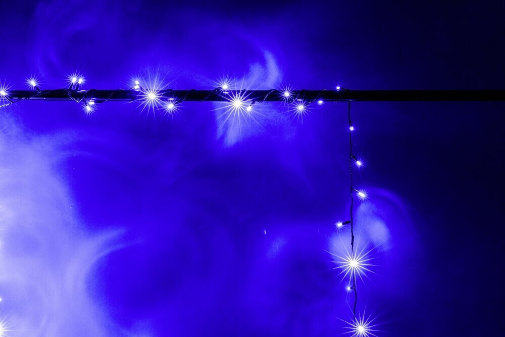 Heitronic LED-Lichterkette mit 52 blauen LEDs 500cm (39702)