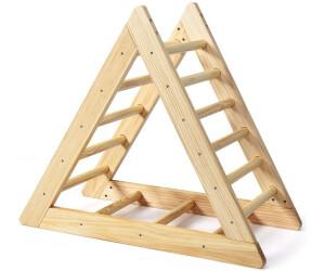 Costway Kletterdreieck aus Holz Klettergerüst für Kinder ab 3 Jahren