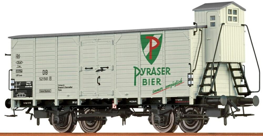 """Brawa Bierwagen G10 """"Pyraser Bier"""" der DB (67480)"""