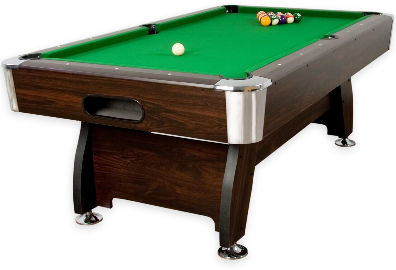 Maxstore 7 ft Pool Billardtisch Premium braun/grün