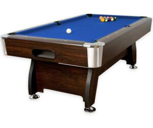 Maxstore 7 ft Pool Billardtisch Premium braun/blau