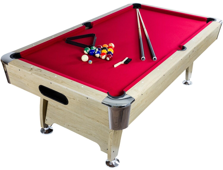 Maxstore 7 ft Pool Billardtisch Premium hell/rot