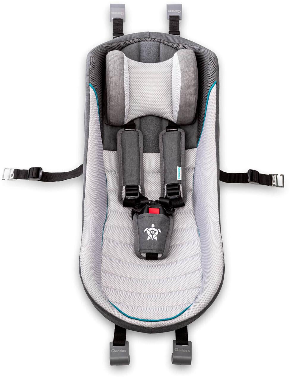 Qeridoo Fahrradanhänger Babyschale weiß
