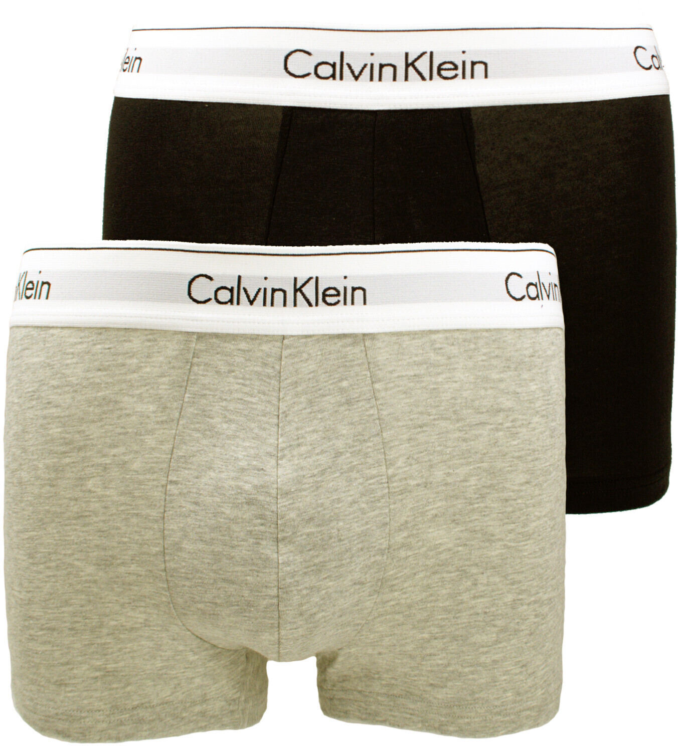 Image of Calvin Klein 2-Pack Boxershorts heather grey/black (NB1086A-BHY)