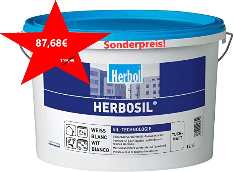 Herbol Herbosil Silikon-Fassadenfarbe 12,5l