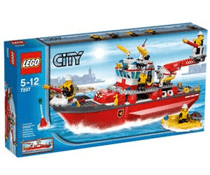 lego city le bateau des pompiers 7207 au meilleur prix sur. Black Bedroom Furniture Sets. Home Design Ideas