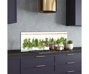 Küchenrückwand Spritzschutz aus Glas 125x50 Deko Essen Getränke Erdbeere Wasser
