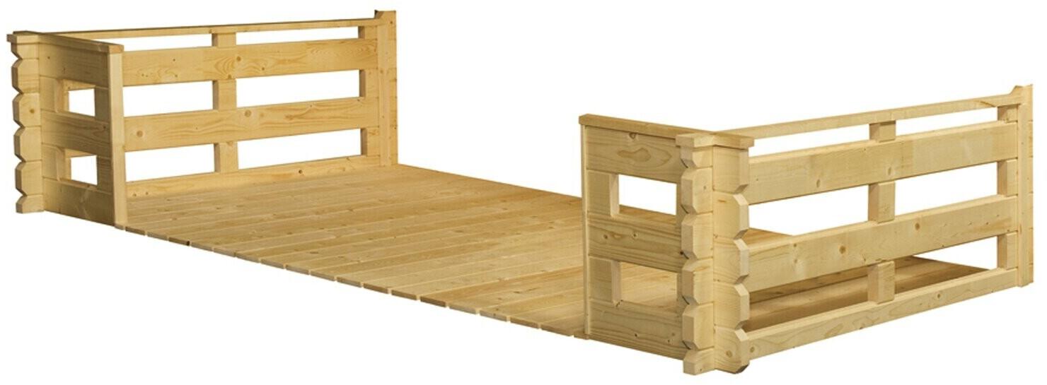 Skan Holz Terrasse für 45 mm Blockbohlenhäuser