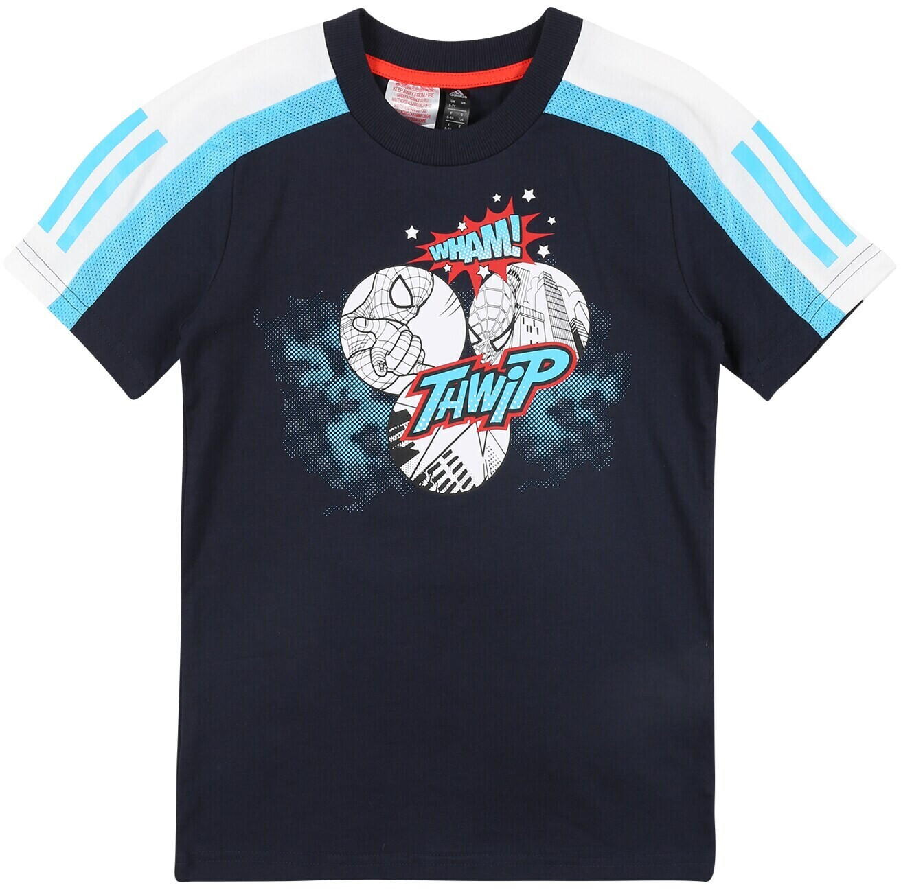 Adidas T-shirt Spider-Man legend ink/bright cyan/white